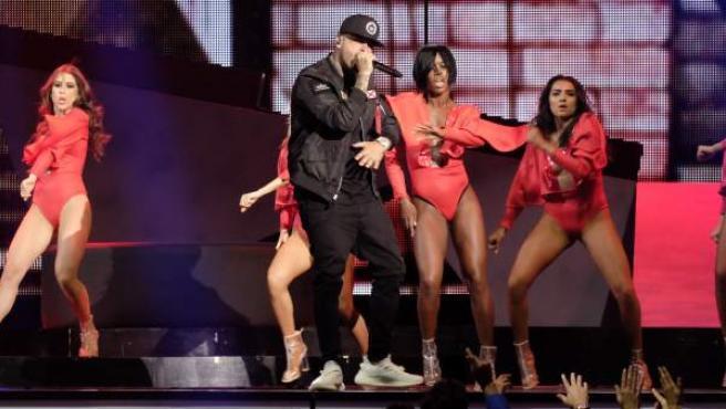 El cantante Nicky Jam en la gala de los Premios Billboard de la Música Latina.
