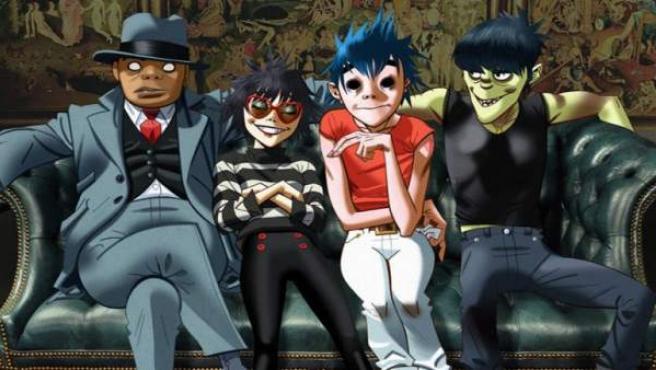El grupo virtual Gorillaz, liderado por Damon Albarn.