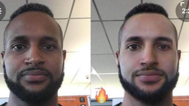 Un usuario se queja de que el filtro para hacer más guapo de FaceApp blanquea la piel.