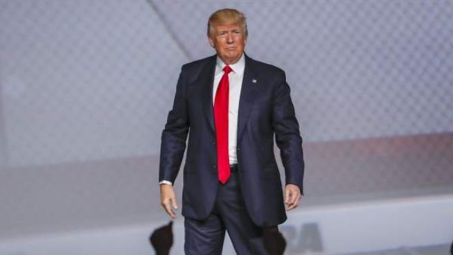 El presidente de EE UU, Donald Trump, en el foro de la Asociación Nacional del Rifle en Atlanta, Georgia, en abril de 2017.