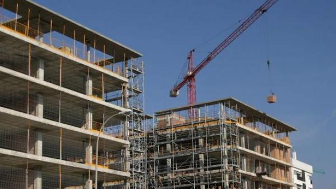 Promociones de viviendas en construcción, en una imagen de archivo.