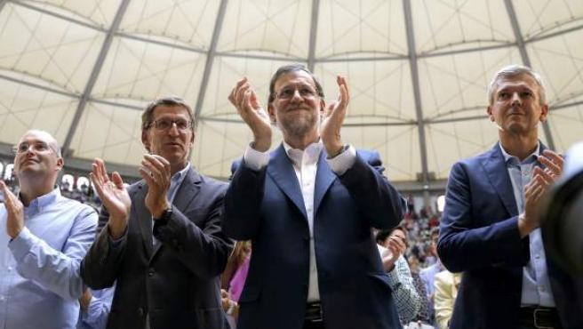 Rajoy con Feijóo en Pontevedra.