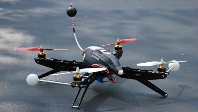 En la imagen un dron.