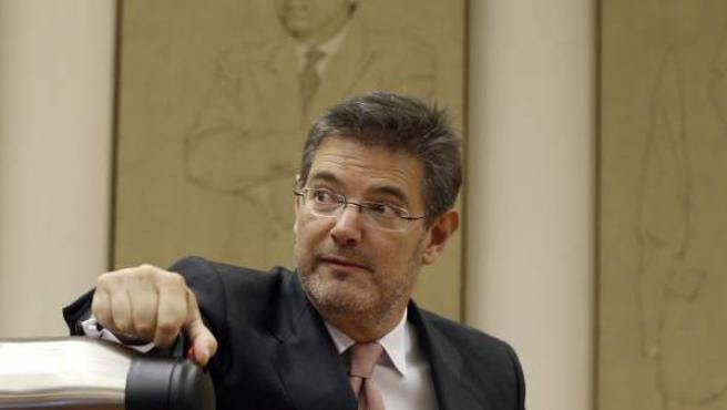 El ministro de Justicia, Rafael Catalá, en el Congreso.