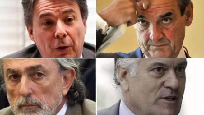 Ignacio González, Mario Conde, Correa y Luis Bárcenas.
