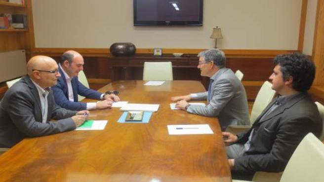 Guillén se ha reunido hoy con el alcalde de Alcañiz