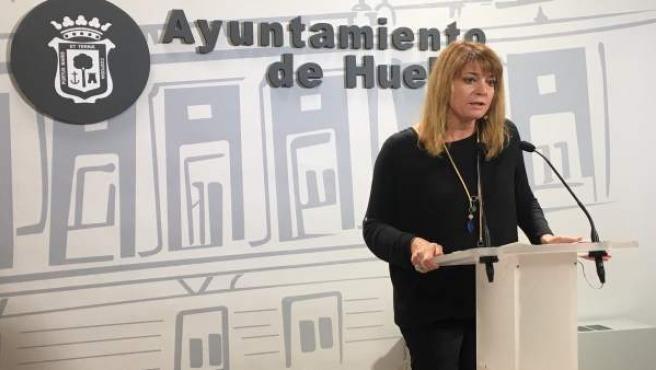 La concejal del PP en el Ayuntamiento de Huelva Pilar Miranda.