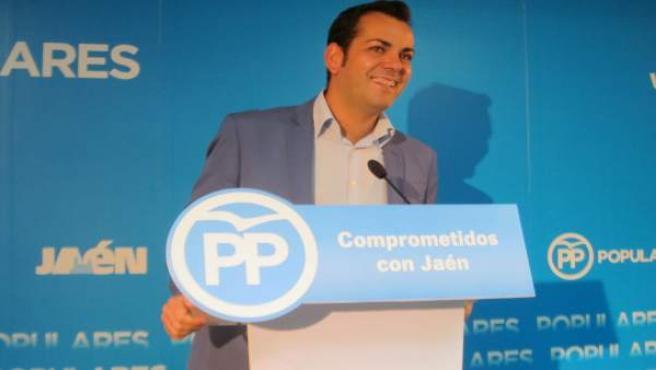 Juan Diego Requena durante la rueda de prensa