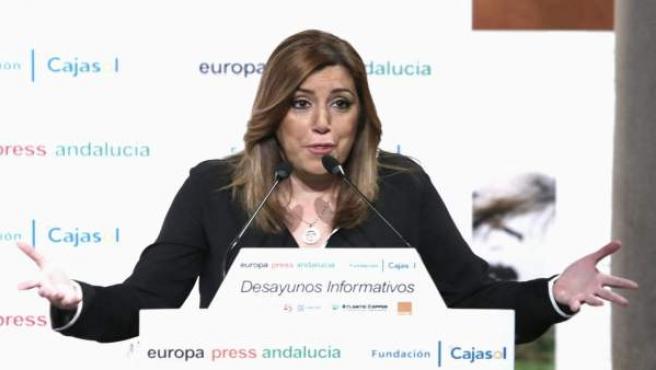 Susana Díaz participa en los Desayunos de Europa Press Andalucía
