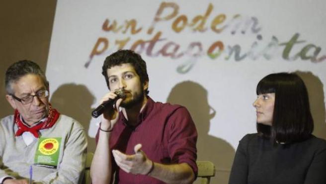Estañ, Geffner y Mínguez en la presentación de Una Marea per Aprofundir el Canvi