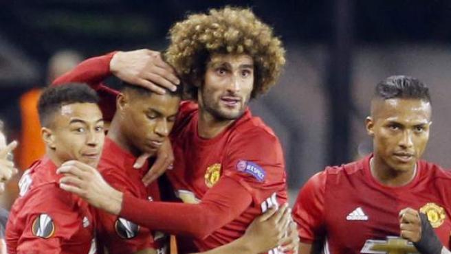 Gol del Manchester United ante el Celta.