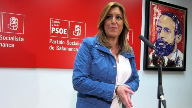 La presidenta andaluza y candidata a liderar el PSOE, Susana Díaz.