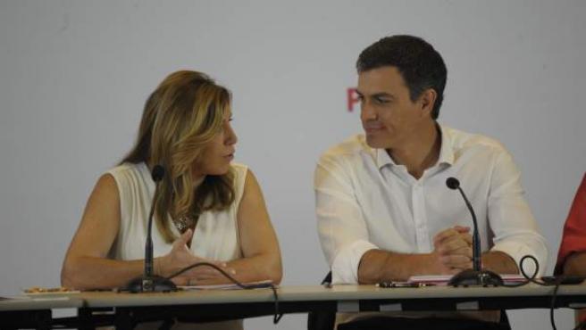 Pedro Sánchez y Susana Díaz, en un Consejo de Política Federal en una imagen de archivo.