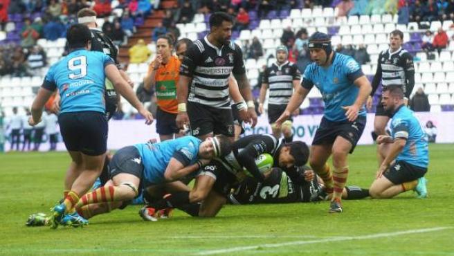 Una imagen de la pasada final de la Copa del Rey de rugby.
