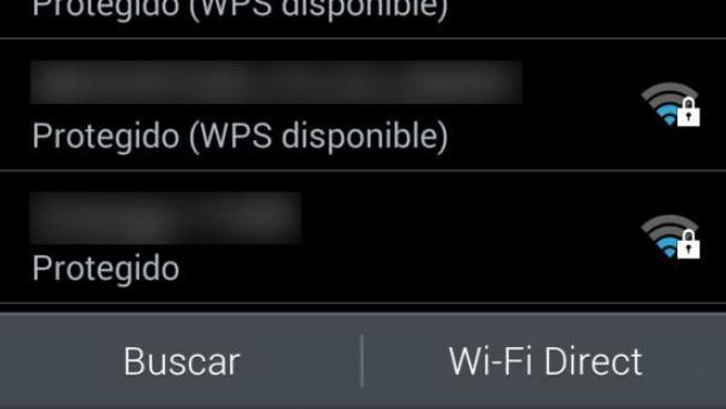 Para activar Wifi Direct basta con ir a los ajustes de la conexión wifi.