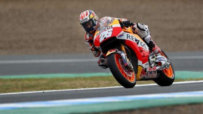 Dani Pedrosa, en el GP de Jerez de MotoGP.
