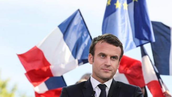 El candidato a la presidencia de Francia por el movimiento 'En Marche!', durante un acto de campaña el pasado 4 de mayo.