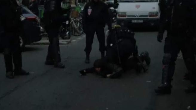 Policía antidisturbios en Francia.