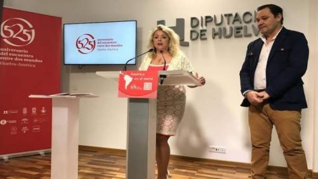 La diputada de Cultura, Lourdes Garrido, presenta 'América en el Menú'.