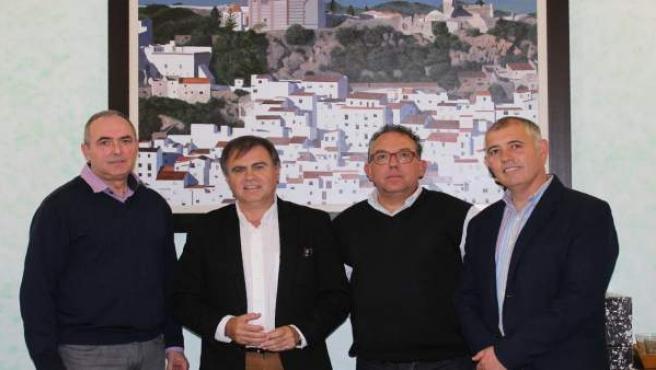 REunión alcaldes corte de carretera