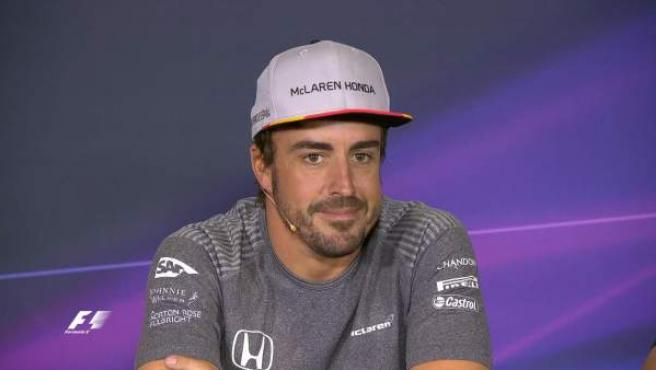 Fernando Alonso, en la rueda de prensa previa al GP de España, en Montmeló.