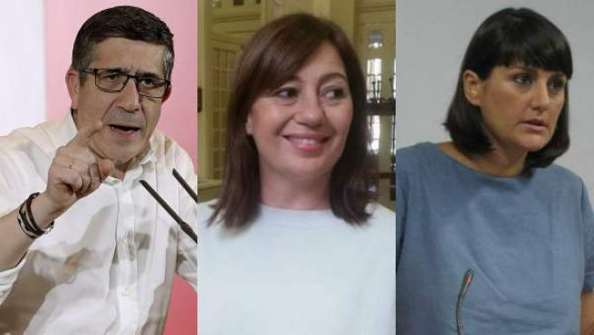 Patxi López, Francina Armengol y María González Veracruz.