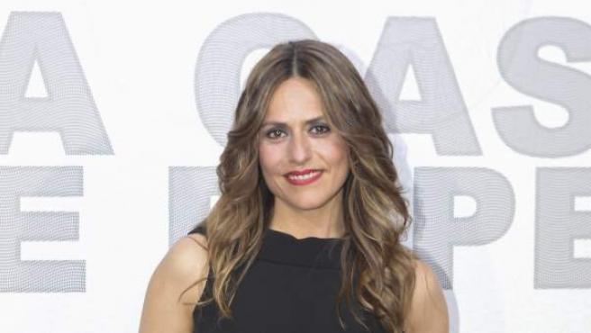 La actriz Itziar Ituño en la presentación de 'La Casa de Papel', en Madrid.