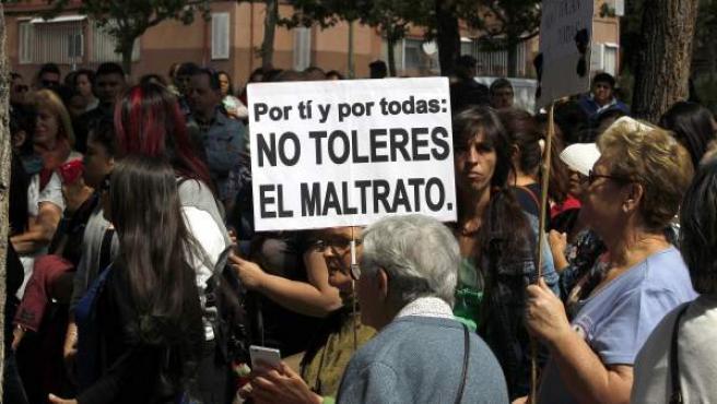 Concentración de protesta contra la violencia machista.