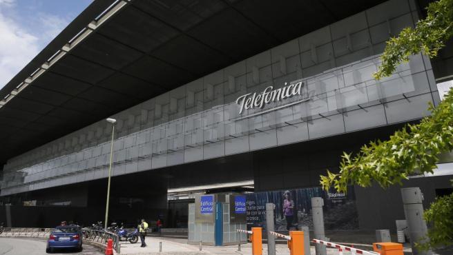 Imagen de la sede de Telefónica en Madrid.