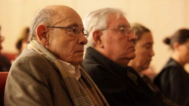 Imagen de Fèlix Millet y Jordi Montull en el juicio del caso Palau.