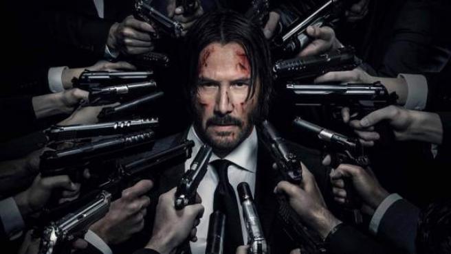 Keanu Reeves en el póster de 'John Wick: Pacto de sangre'