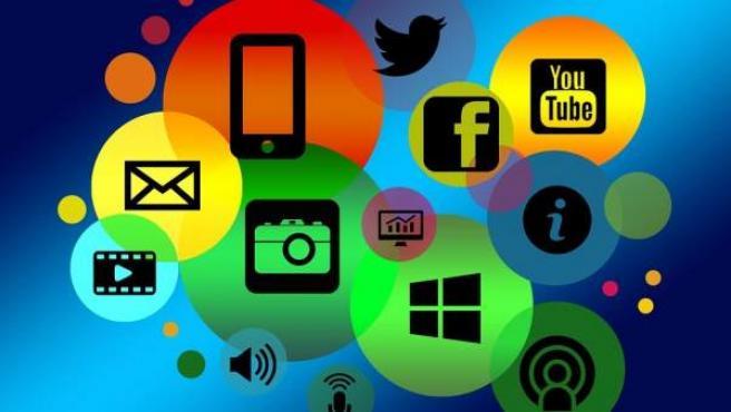 Iconos relacionados con internet.