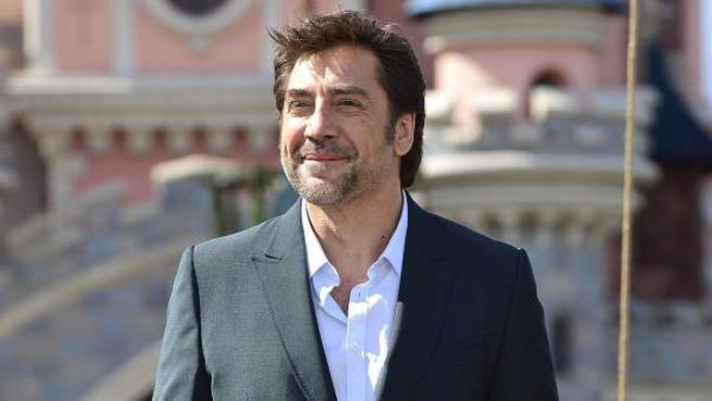 El actor Javier Bardem, protagonista de 'Piratas del Caribe: la venganza de Salazar', en la presentación de la película en Disneyland París.