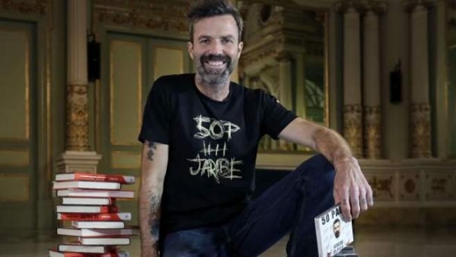 El cantante Pau Donés, de Jarabe de Palo, durante la presentación de su nuevo disco, libro y gira.
