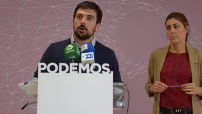 Ramón Espinar y Lorena Ruiz-Huerta, de Podemos Madrid.