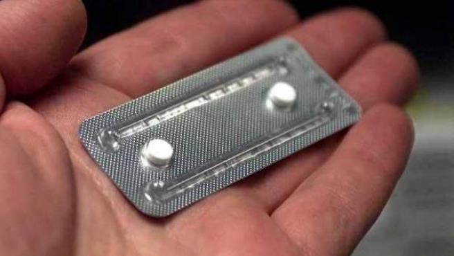 Imagen de archivo de una píldora anticonceptiva.