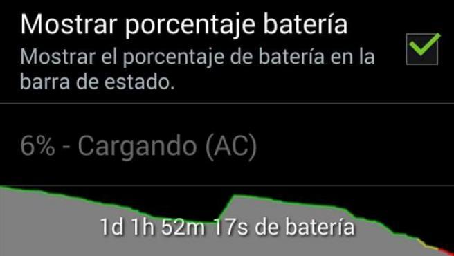 Desde los ajustes del móvil puedes averiguar rápidamente qué apps o procesos consumen más batería.