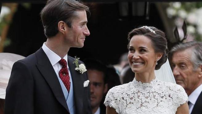 Pippa Middleton, tras contraer matrimonio con James Matthews.