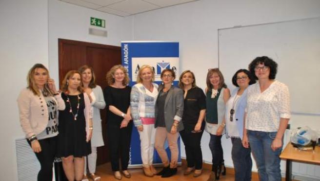 Junta de la Asociación Aragonesa de Mujeres Empresarias y Profesionales