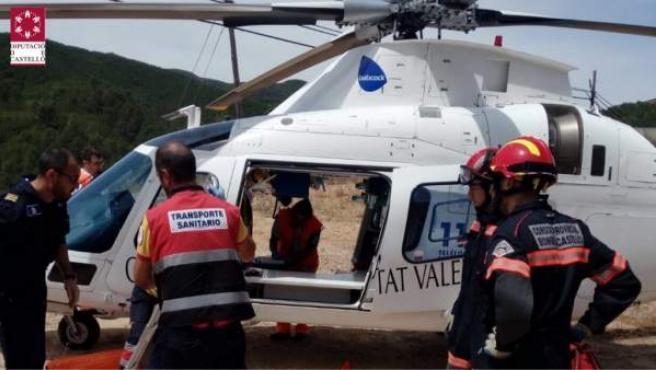 El rescate se ha efectuado en un helicóptero medicalizado Charly 9