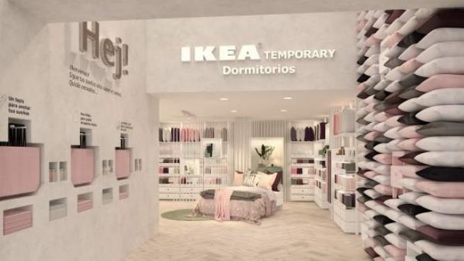 La entrada del nuevo Ikea, situado en la Calle Serrano de Madrid.