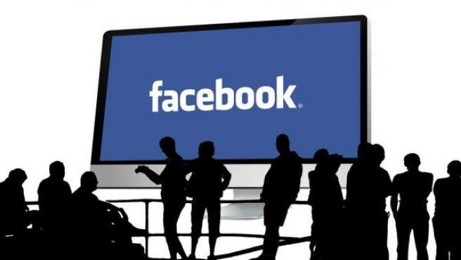 Imagen que simula una reunión de personas en Facebook.