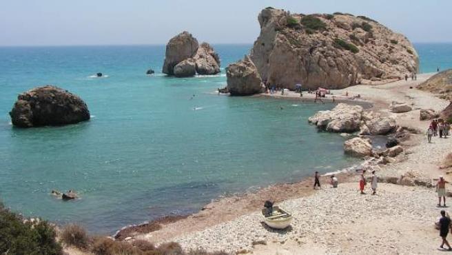 La Roca de Afrodita, en Pafos, donde la leyenda cuenta que nació Afrodita.