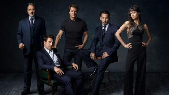 Russell Crowe, Javier Bardem, Tom Cruise, Johnny Depp y Sofía Boutella.