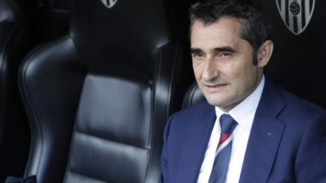 Ernesto Valverde en un partido con el Athletic.