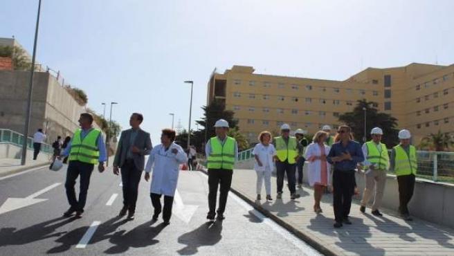 Nueva rampa de acceso a Torrecárdenas y al Materno Infantil en construcción
