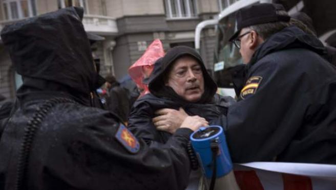 Un momento de la protesta del 'Jaque al Rey' este pasado 29 de marzo en Madrid.