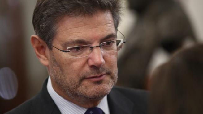 El ministro de Justicia, Rafael Catalá, en la sesión de control al Gobierno en el Congreso.