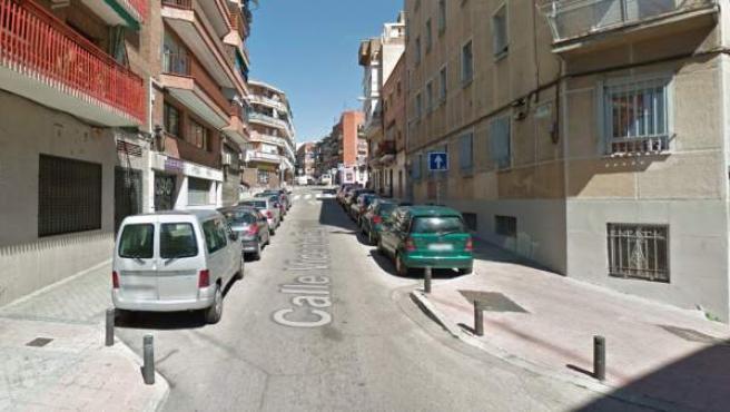 Imagen de la calle Vicente Espinel, donde ha tenido lugar el trágico suceso.