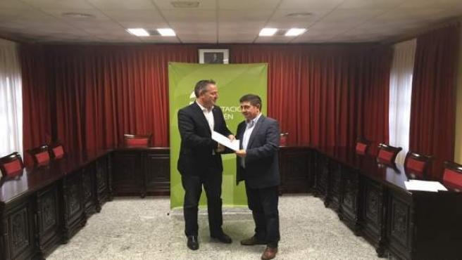 Entrega de ayudas de la Diputación de Jaén a Guarromán